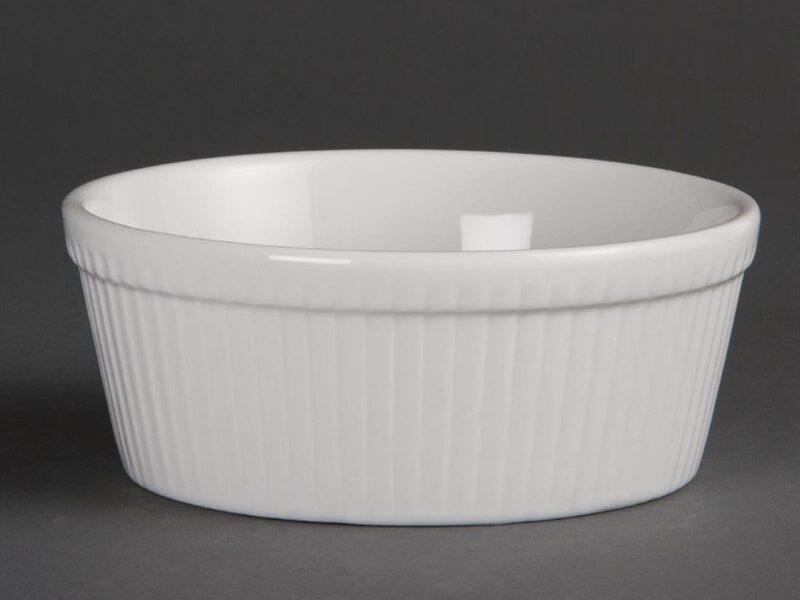 Plats à gratin ronds blancs Olympia 134mm