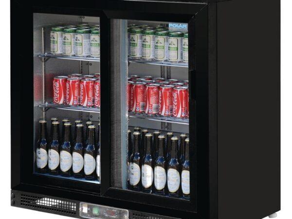 Arrière-bar portes coulissantes 182 bouteilles Polar