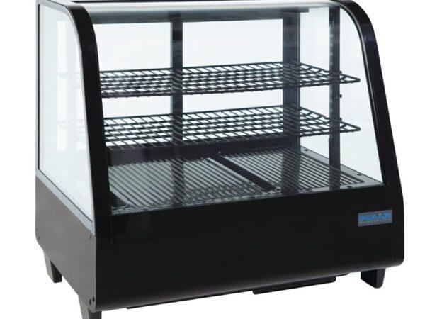 Vitrine réfrigérée de comptoir 100L Polar noire