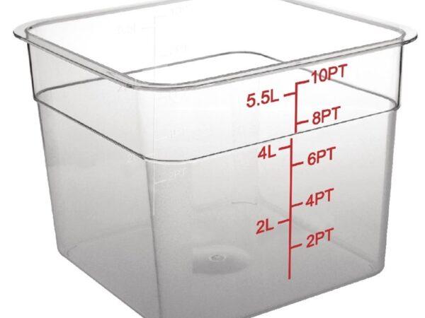Boîte de conservation carrée en polycarbonate 5,5L Vogue