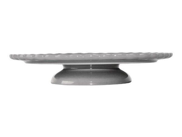 Présentoir à gâteau gris en céramique Olympia 280x50mm