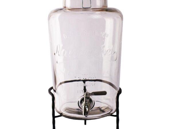 Distributeur d'eau rétro en verre avec socle Olympia 8,5L