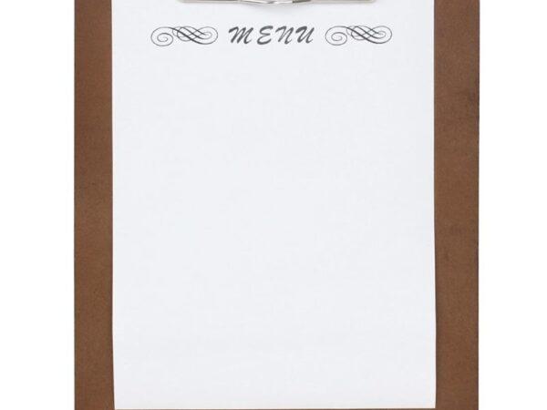 Plaque porte-menus en contreplaqué Olympia A5