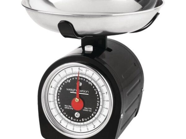 Balance mécanique noire Weighstation 5kg
