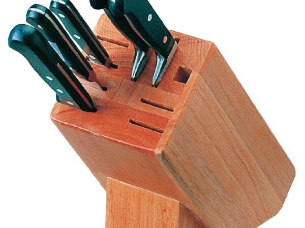 Bloc à couteaux en bois 9 pièces Vogue